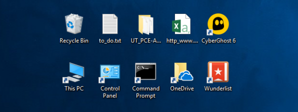 Pictograme desktop