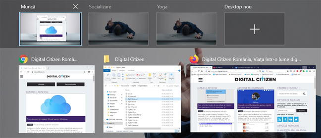Este mai ușor să găsești un desktop virtual dacă-l redenumești