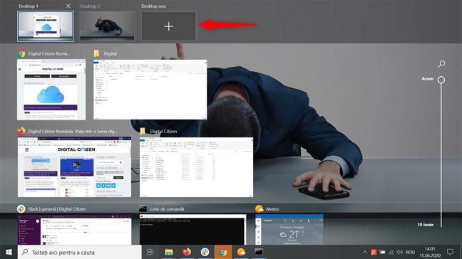 Creează mai multe desktopuri în Windows 10