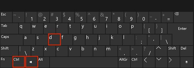 Apasă tastele Ctrl, Windows și D simultan