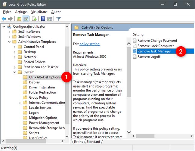 Politica Remove Task Manager