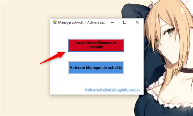 Dezactivare Manager de activități în Windows 10, cu TaskMgrEd