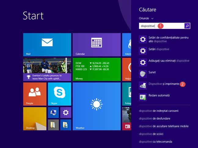 Dispozitive si imprimante, Windows, panou, control, management