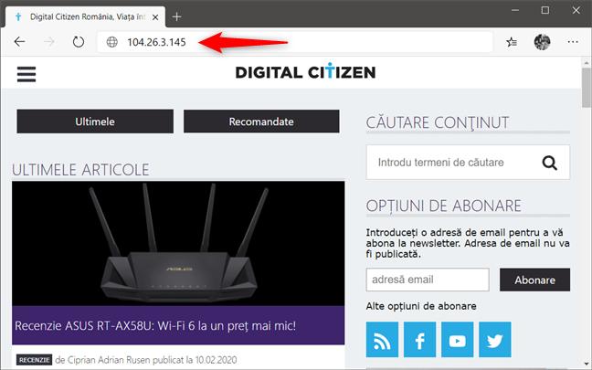 DNS poate să traducă numele site-urilor web în adrese IP numerice