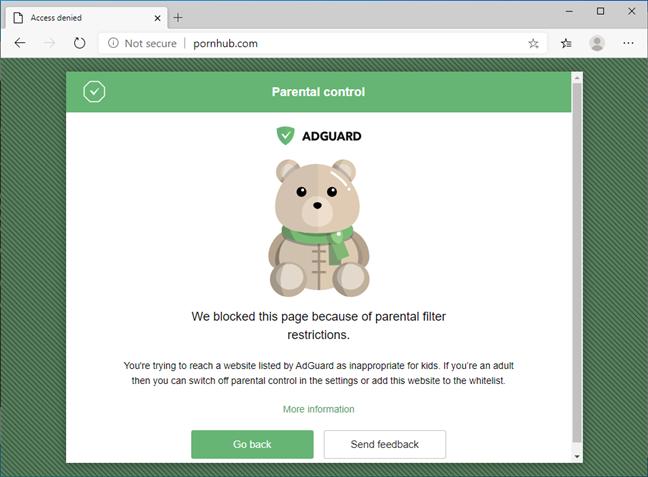 Există multe servere DNS publice care includ opțiuni de control parental