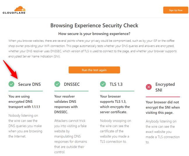 Unele servere DNS din terțe părți oferă suport pentru DNS over HTTPS
