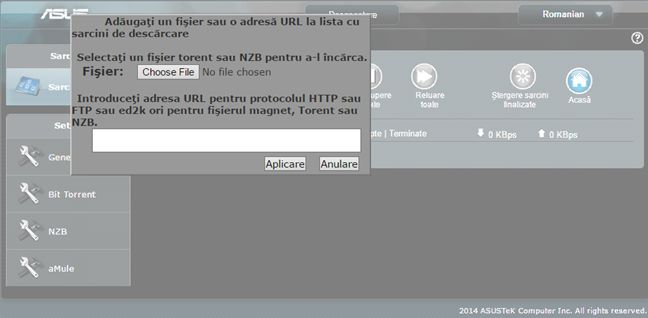ASUS, router, wireless, Download Master, torrent, descarca, P2P