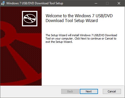 Instalarea Windows USB/DVD Download Tool