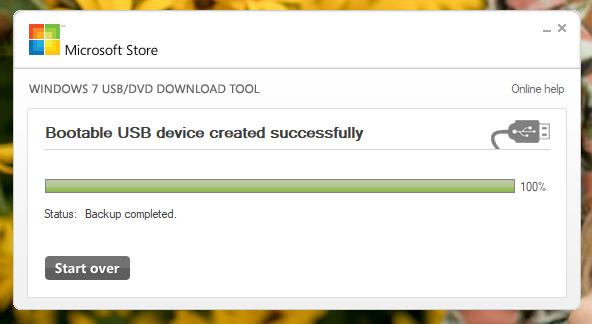 Unitatea de memorie USB bootabilă a fost creată