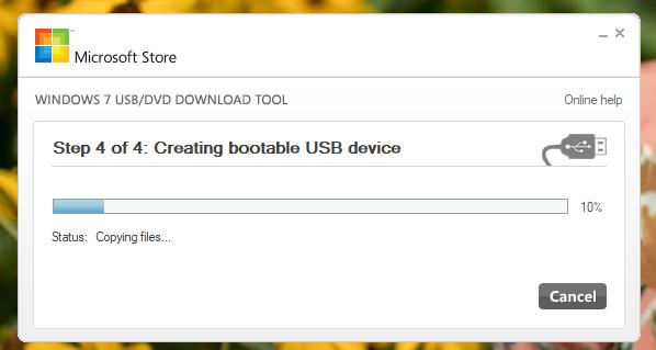 Crearea stickului de memorie USB bootabil