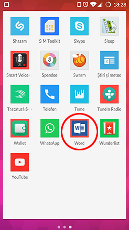 Microsoft Office, Dropbox, Android, conectare, cont