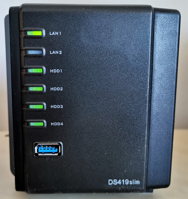 Synology DiskStation DS419slim - Ledurile de pe acest NAS