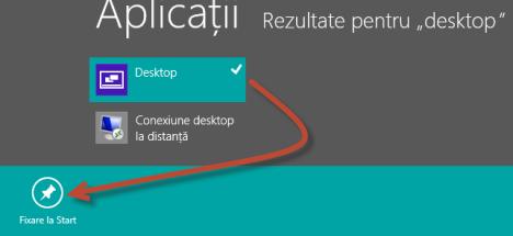 Cum se adaugă dala Desktop pe ecranul de Start al Windows 8