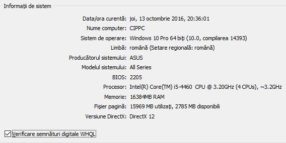 dxdiag, Instrument de diagnosticare DirectX, DirectX Diagnostic Tool, Windows