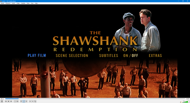 Un film cu aspectul de imagine de 4:3 pe un ecran 16:9
