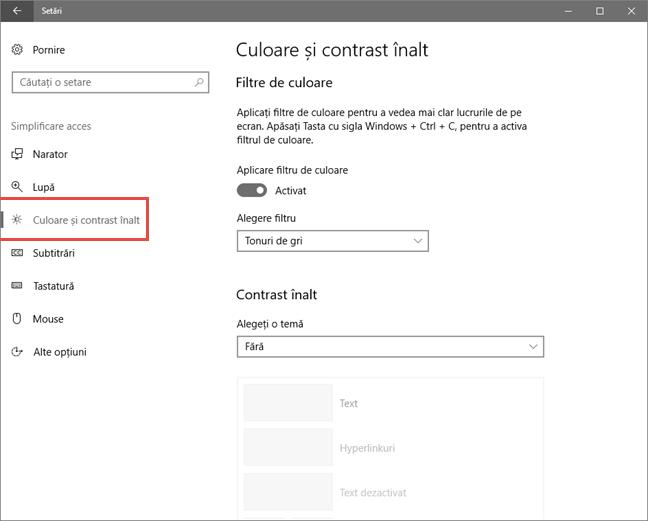 Windows 10, ecran, gri, alb negru