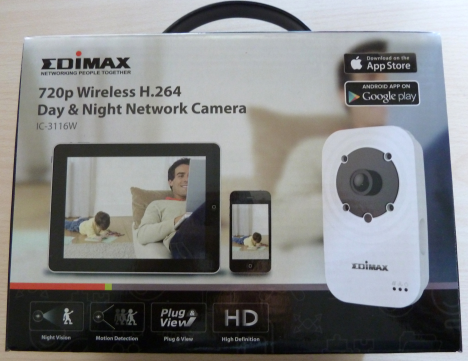Edimax IC-3116W, camera, retea, wireless, zi, noapte, infrarosii