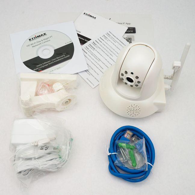 Edimax IC-7113W, camera, supraveghere, retea, mobil, zi, noapte, senzor. umiditate, review