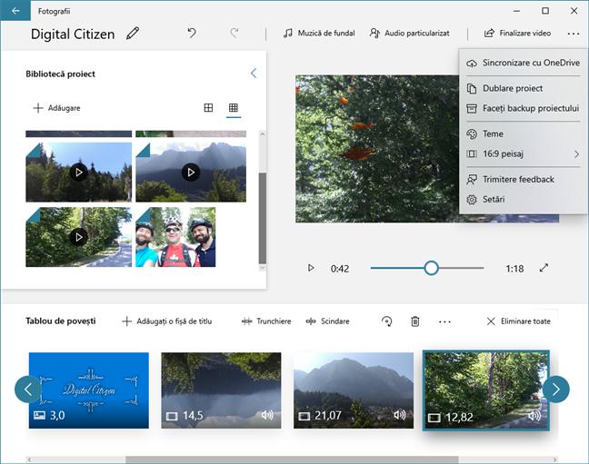 Editor video poate să sincronizeze proiectele video în OneDrive și le poate salva pe alte unități de stocare