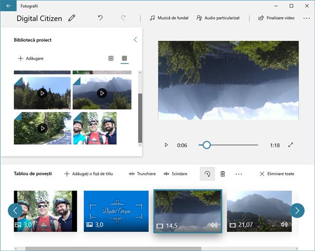 Rotirea clipurilor video în Editor video se face ușor