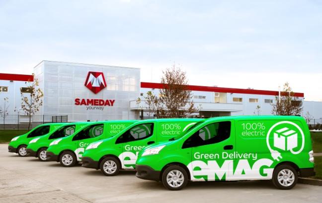 eMAG Green Delivery folosește mașini Nissan E-NV200