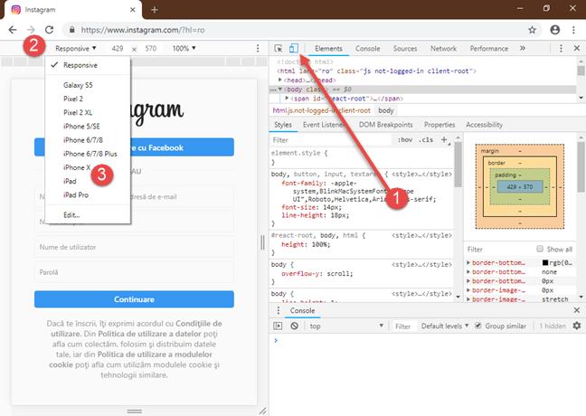Google Chrome: Instrumente pentru dezvoltatori