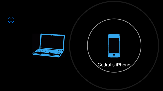 Un iPhone căutând PC-uri cu Windows 10 către care poate transmite video