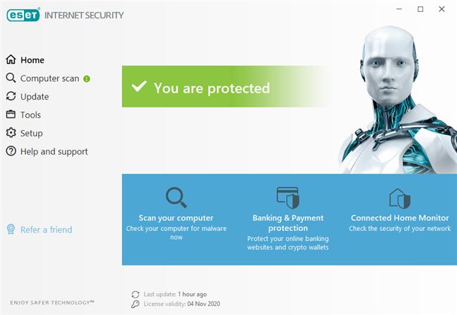 Interfața de utilizare a ESET Internet Security