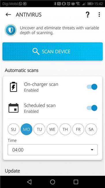 Scanări automate cu ESET Antivirus