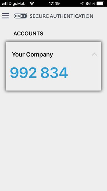Aplicația ESET Secure Authentication pentru iPhone