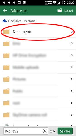 Android, Microsoft, Office, Excel, spreadsheet, creaza, editeaza, salveaza