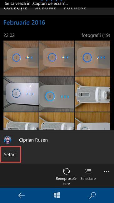Fotografii, aplicatie, exclude, poze, OneDrive, Windows 10, Windows 10 Mobile