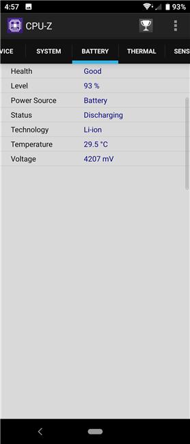 Detalii despre bateria lui Sony Xperia 10