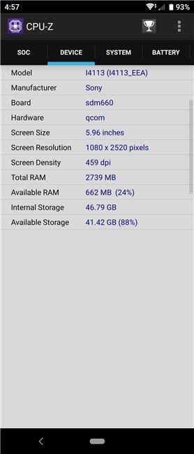 Detalii hardware despre Sony Xperia 10