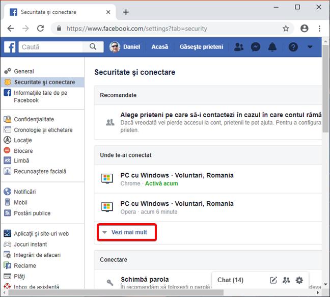 Vezi toate dispozitivele conectate la contul tău de Facebook