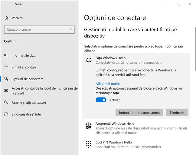 Dezactivează automat ecranul de blocare dacă Windows îți recunoaște fața