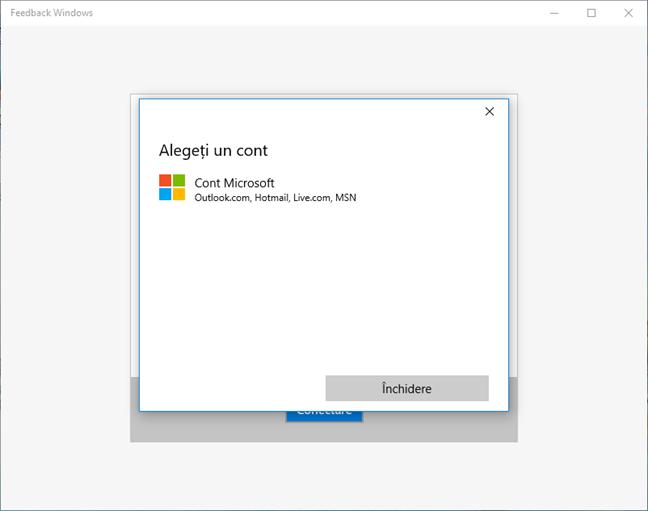 aplicatie, Windows 10, Feedback Windows, raporteaza, voteaza, sugestii, probleme