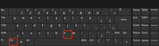Apasă Ctrl + N pe tastatura ta