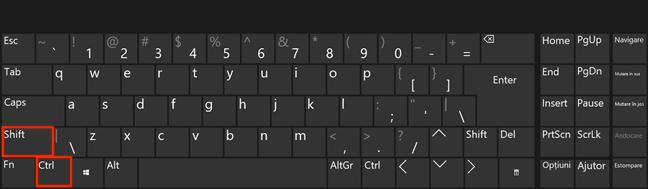 Folosește tastele Ctrl și Shift și dă clic sau atinge