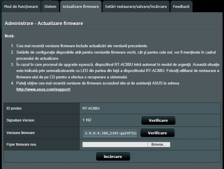 actualizeaza, upgrade, firmware, ASUS, router, wireless