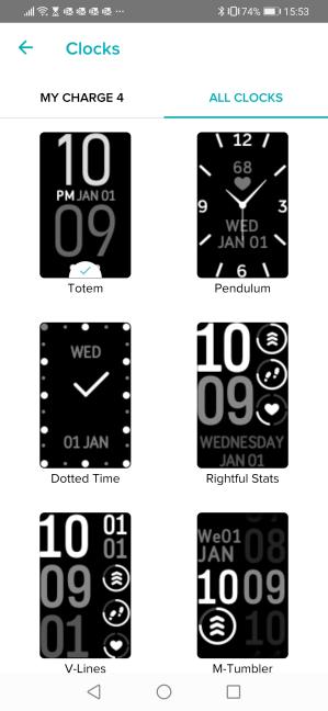 Fețele de ceas pentru Fitbit Charge 4