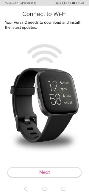 Fitbit Versa 2 - conectarea la Wi-Fi