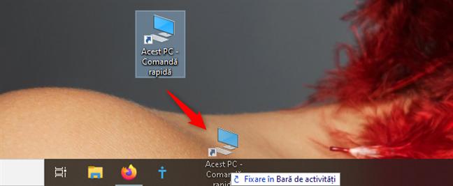 Fixarea Acestui PC pe bara de activități