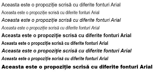 Familia de fonturi Arial