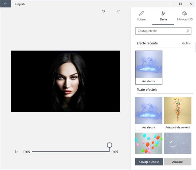 Poți folosi aplicația Fotografii pentru a adăuga efecte 3D și text animat pe imaginile tale