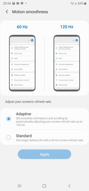 Alege rata de reîmprospătare pentru Samsung Galaxy Note20 Ultra 5G