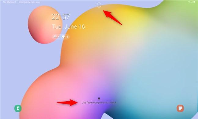Deblocarea facială a tabletei Samsung Galaxy Tab S6 Lite