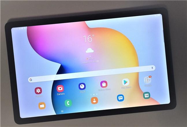 Ecranul de pornire de pe Samsung Galaxy Tab S6 Lite