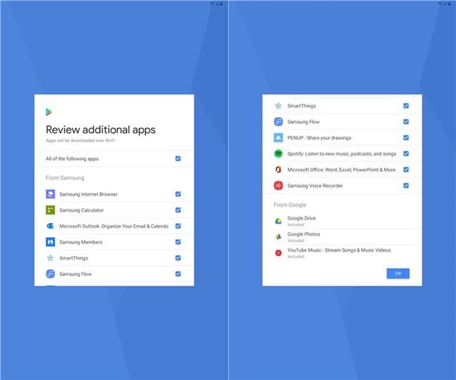 Aplicații suplimentare recomandate de către Samsung