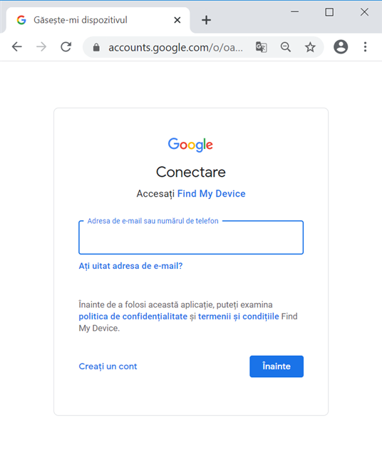 Conectează-te cu același cont